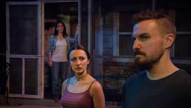 "Anastasia Zavaro, left, Elisabeth Yancy and Eric Butler in ""The Water's Edge."""