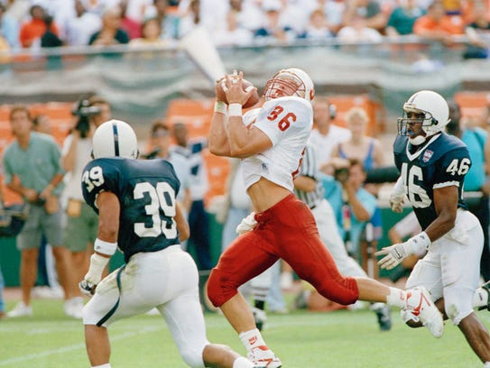 Lee Rubin (39) was a hard-hitting safety for the Nittany