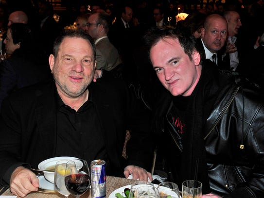 Producer Harvey Weinstein, left, and director Quentin