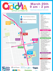 Ciclovia is coming to downtown Pensacola March 25.