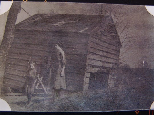 Two of Jim Vernon's ancestors, Constance and Mildred, are pictured on the farm in a photo from 1912.