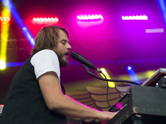 Marco Benevento performs during day two of the Grand Point North music festival on Saturday September 12, 2015 in Burlington, Vermont.
