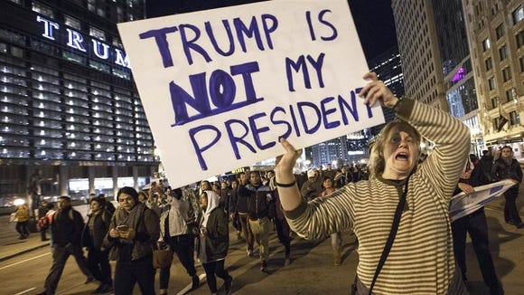 Thousands of protesters swarmed the streets of several