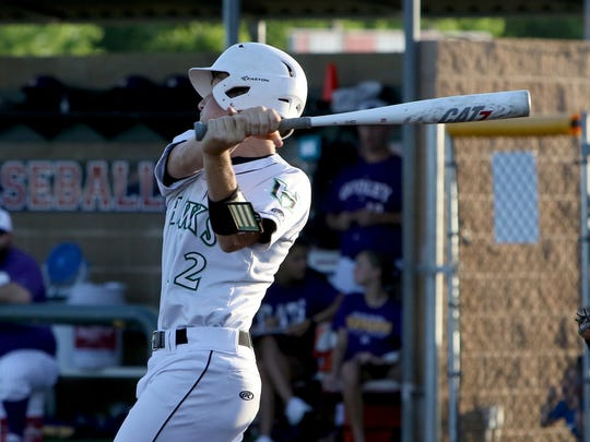 Iowa Park's Kaleb Gafford has improved his batting average by almost 100 points as a junior, hitting .397 with three homers and 34 RBIs in 2019.