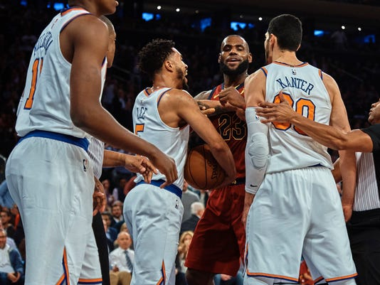 LeBron James, Enes Kanter, Courtney Lee