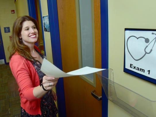 Dr. Erin Hannagan checks in at Keystone Pediatrics