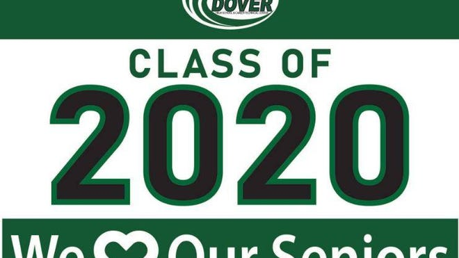"Dover High School staff are selling ""We Love Our Seniors"" lawn signs that community members can place around the city to honor the Class of 2020 during the COVID-19 pandemic. A community parade is planned Friday, June 5."