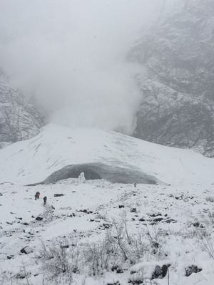 No one was injured in the avalanche near the Big Four Ice Caves, in Wash.