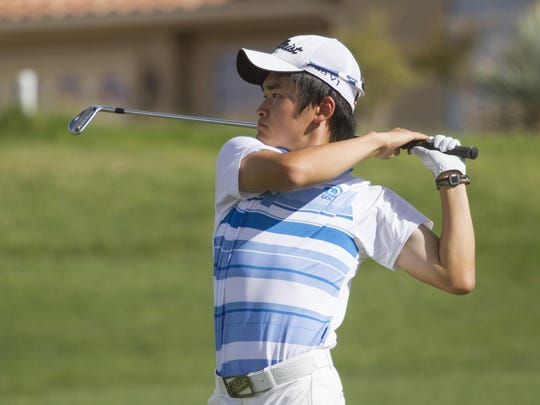 Golfers finish off the Region 9 portion of their season at Southgate Golf Club on Wednesday. Desert Hills, Dixie, Snow Canyon and Pine View will head to Soldier Hollow next week for the state tournament.