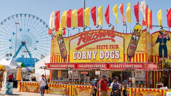 Fletcher's Original Corny Dogs debuted at the State Fair of Texas in 1942, and the company usually sells almost half a million corn dogs every fair season. This year, they are teaming up with Golden Chick to sell the battered corn dogs at restaurants in Texas.