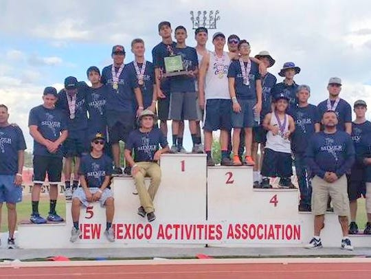 The Silver High boys' track and field team placed third