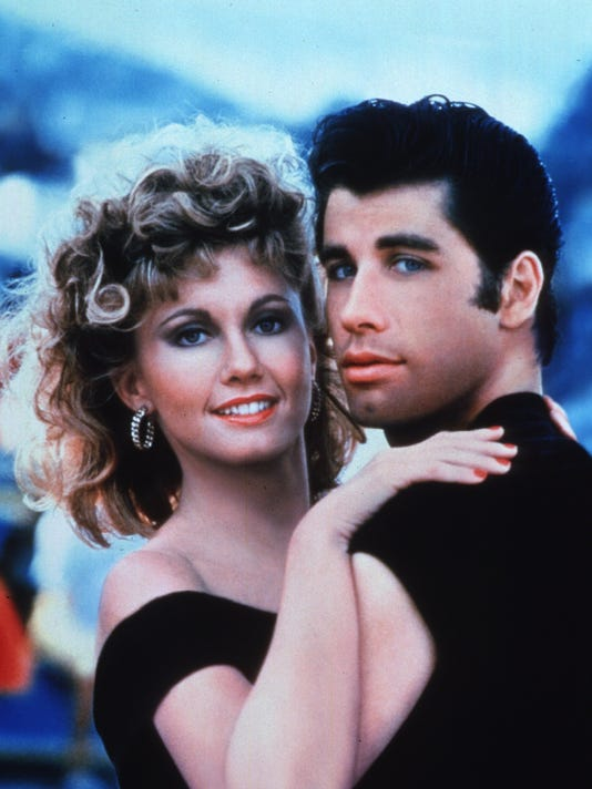 """""""Grease"""" - Olivia Newton-John and John Travolta"""