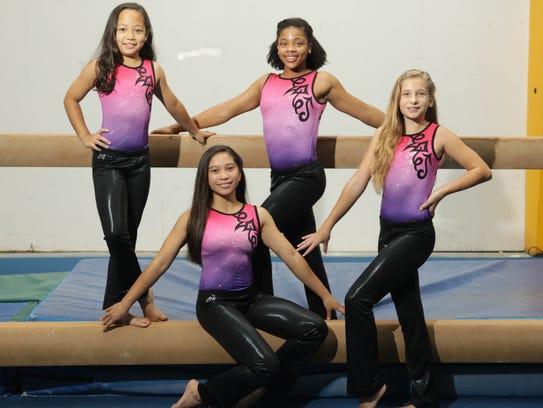 Guam gymnasts before the Magical Classic gymnastics