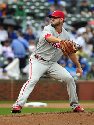 Phillies starting pitcher Adam Morgan allowed six runs in four-plus innings in a loss Friday to the Chicago Cubs at Wrigley Field.
