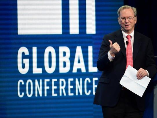 Eric Schmidt, executive chairman of Google parent company