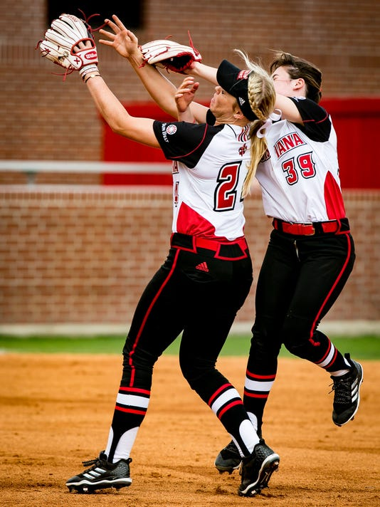during the game between ULL and the University of North Florida at Lamson Park in Lafayette, Louisiana on February 24, 2018.