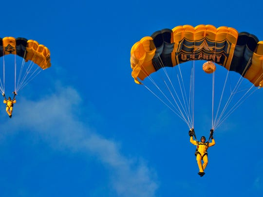 The U.S. Army Golden Knights parachute team