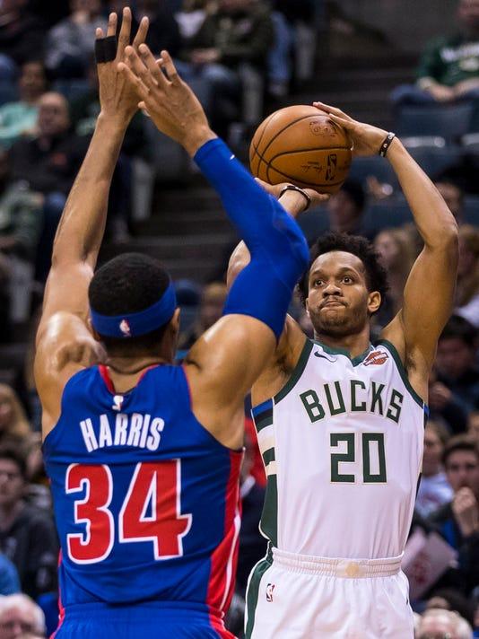 NBA: Detroit Pistons at Milwaukee Bucks