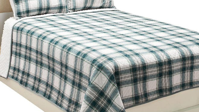 An ED reversible quilt set by Ellen DeGeneres. Plaids are having a fashion moment.