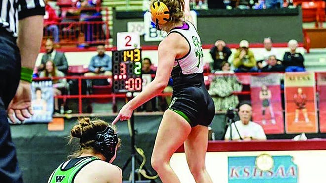 Pratt High School's Livia Swift was the school's, and the state's, first-ever state wrestling champion in her 2020 female weight division. She will be honored in the Best of Preps virtual show this Thursday.