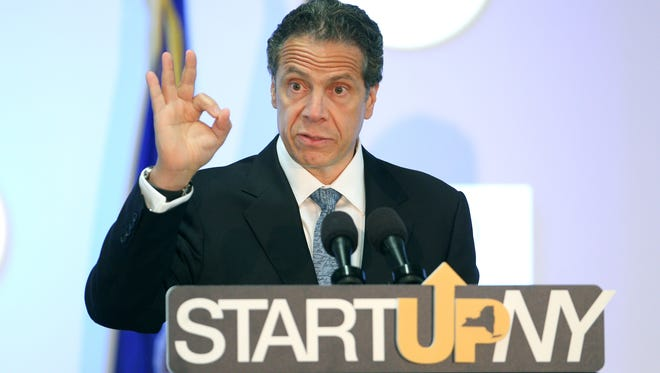 Gov. Andrew Cuomo visits Rochester Institute of Technology to announce that datto, a company founded by RIT grad Austin McChord, will open an office in Rochester as part of the Start-Up NY program.