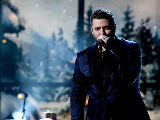 Singer-songwriter  Chris Young performs on stage during
