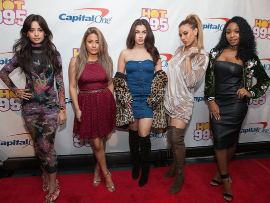 Camila Cabello, Ally Brooke, Lauren Jauregui, Dinah Jane Hansen, and Normani Kordei of Fifth Harmony arrive at Hot 99.5's Jingle Ball on December 12, 2016 in Washington, DC.