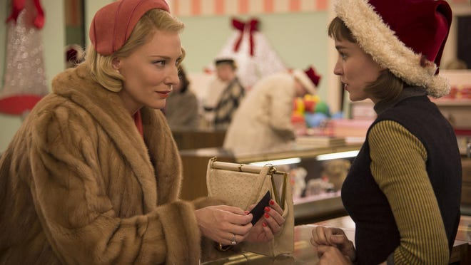 """Starring Cate Blanchett and Rooney Mara, """"Carol"""" is set in 1950s New York. A department-store clerk who dreams of a better life falls for an older, married woman."""