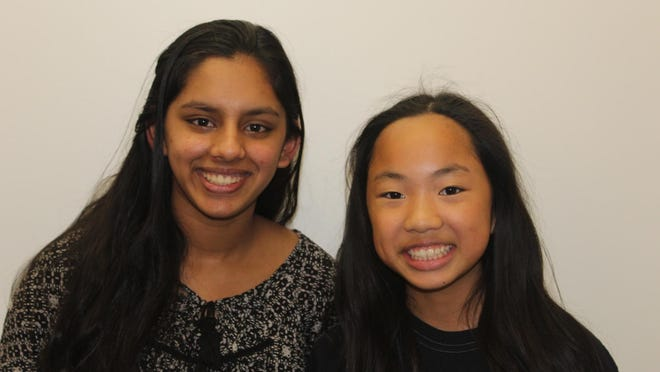 East MS students Aarushi Ganguly and Moriah Ma created a documentary about the gender wage gap.