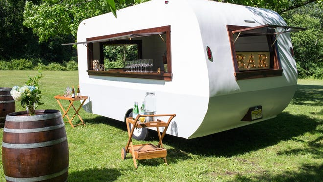 The Cocktail Caravan took eight months to build.