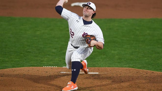 Auburn pitcher Tanner Burns was selected by the Indians with a Competitive Balance pick between the first and second rounds of the MLB Draft.