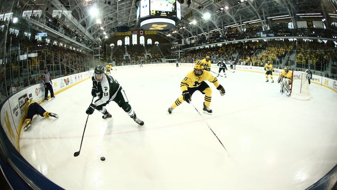 MSU earned a first-round bye in the Big Ten tournament thanks to Saturday's 2-1 win over Michigan at Yost Arena in Ann Arbor