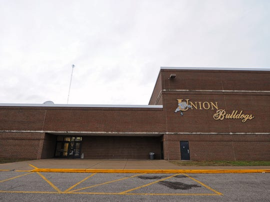 Union High School prior to the game against Eastern Greene, Friday, December 20, 2013, in Dugger, Ind. Union High School is set to close after a 3-2 Northeast School Corporation school board vote.