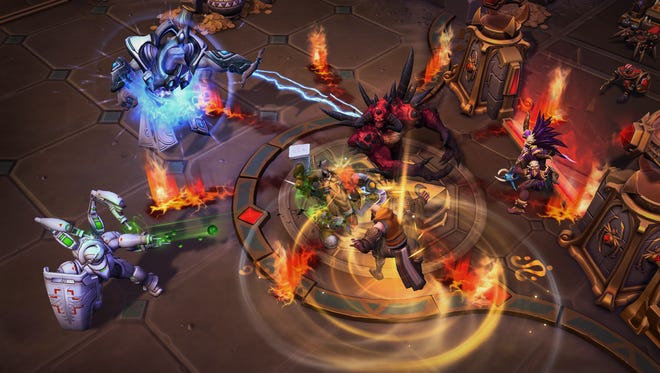 Images of Heroes of the Storm's new Lost Cavern map.