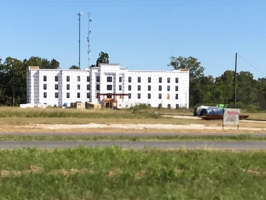 A hotel being built in Opelousas behind Wal-Mart seems to be based on the design of the Holiday Inn franchise.