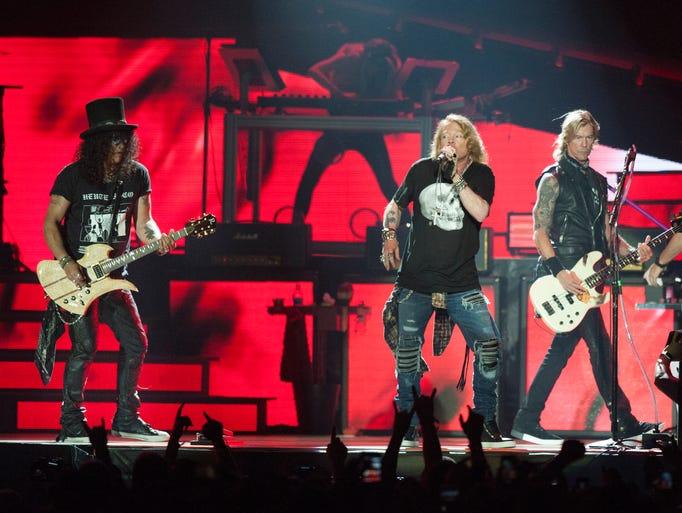 Guns N' Roses original members, from left, lead guitarist
