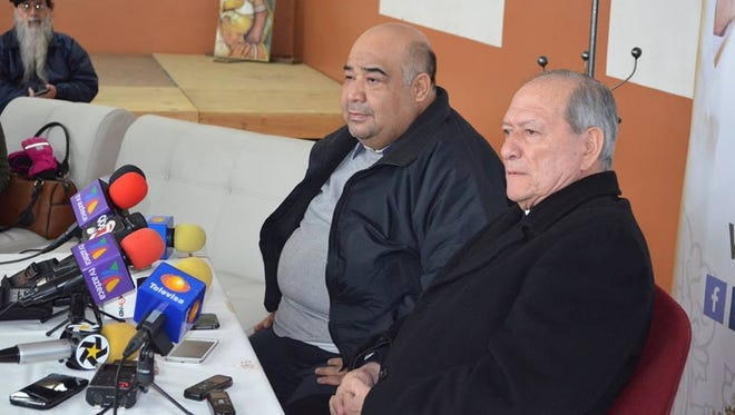 The Rev. Juan Alberto Melendez, who is in charge of the Juárez Diocese's penitentiary pastoral services, and the Rev. Hesiquio Trevizo, spokesman for the Juárez Diocese, talk about Pope Francis' visit to Cereso state prison No. 3.