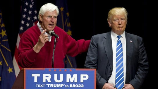 Bobby Knight, former Indiana University basketball