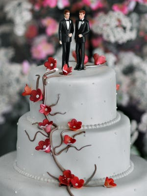 A photo illustration to accompany a story about potential same-sex marriage legislation in New York State.