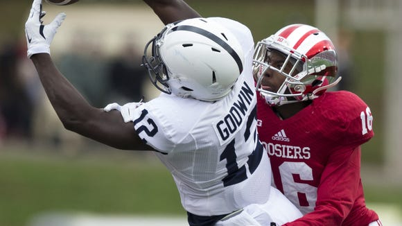 Can Rashard Fant (right) and an underexperienced group of cornerbacks shore up Indiana's struggling pass defense?