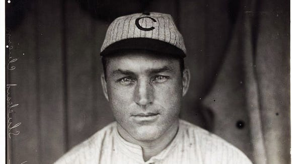 Jimmy Sheckard of the 1908 Chicago Cubs.
