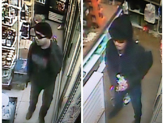 Surveillance images from a robbery at Rose Food Mart