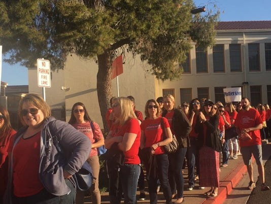 Chandler teachers march in solidarity with #RedForEd