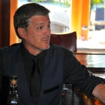 """Bob Caso, who grew up in Brevard County, is excited about offering a sneak peek of his movie, """"In Between Days,"""" at the Melbourne Independent Filmmakers Festival. In addition to writing and producing the movie, he plays Murphy the bartender in this scene shot at Djon's Steak and Lobster House in Melbourne Beach."""