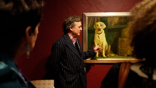 """Jamie Wyeth discusses his painting, """"Kleberg,"""" while going through a retrospective of his work at the Brandywine River Museum of Art."""