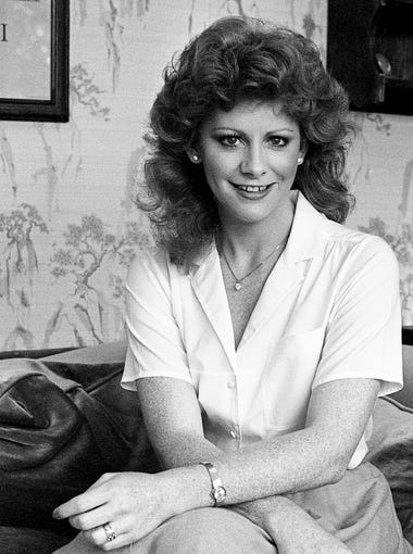 Reba McEntire relaxes at a Music Row office on Aug. 30, 1983.
