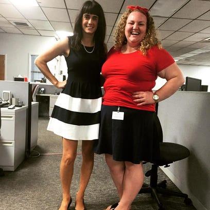 Reporters Amanda Claire Curcio, left, and Ashley White,