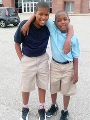 Antonio (left) and Caleb Wilson attend Paramount School