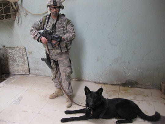 Febe, a German Shepherd, served in the U.S. Air Force