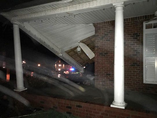 A homeowner on Bainbridge Drive in Clarksville reported